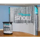 2 x 3 Pop Up Display Stand. Including Lectern, Lights & Printed Graphics