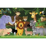 Animals in the Jungle - 38mm Deep Framed Canvas Print