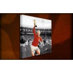 Bobby Moore 1966 - 38mm Deep Framed Canvas Print