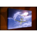 Exectutive Jet - 38mm Deep Framed Canvas Print