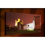 Castle at Night - 38mm Deep Framed Canvas Print