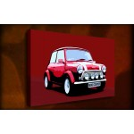 Red Mini Cooper 2 - 38mm Deep Framed Canvas Print