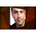 George Clooney - 38mm Deep Framed Canvas Print