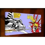 Roy Lichtenstein Whaam - 38mm Deep Framed Canvas Print