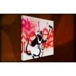 Rat with Roller - 38mm Deep Framed Canvas Print