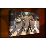 The Beatles Abbey Rd - 38mm Deep Framed Canvas Print