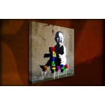 Toddler with Bricks - 38mm Deep Framed Canvas Print