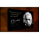 Albert Einstein - 38mm Deep Framed Canvas Print