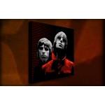 Oasis Red - 38mm Deep Framed Canvas Print