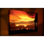 Sunset Party - 38mm Deep Framed Canvas Print