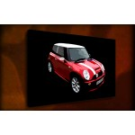 Red Mini Cooper - 38mm Deep Framed Canvas Print