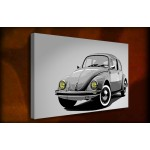 VW Beetle - 38mm Deep Framed Canvas Print