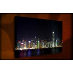 Hong Kong Harbor - 38mm Deep Framed Canvas Print