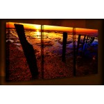 Low Tide - 3 Multi-Panel - 38mm Deep Framed Canvas Print