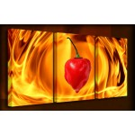 Hot Hot Hot - 3 Multi Panel Canvas Prints