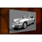 Porsche 911 - 38mm Deep Framed Canvas Print