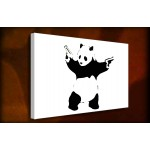Shooting Panda - 38mm Deep Framed Canvas Print