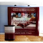 3 x 3 Pop Up Display Stand Including Lectern, Lights & Printed Graphics